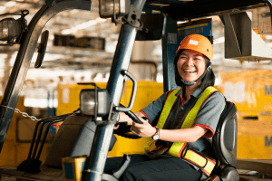 DIAMOND fork lift woman employment